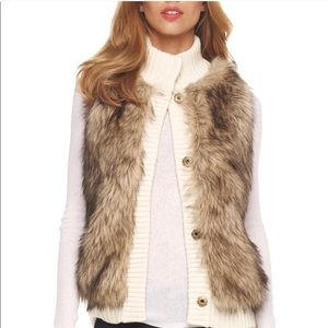Michael Kors Faux Fur Sweater Vest